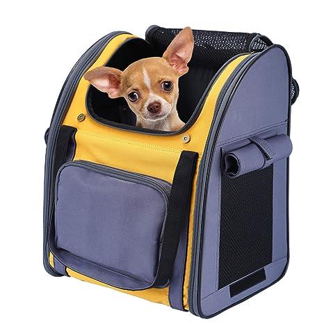 Mochila para Gatos Perros Cachorro Respirable Pet Backpack Plegable Impermeable Transportin para Pequeño Mascotas Peso de