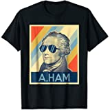 Hamilton tshirt wearing sunglasses