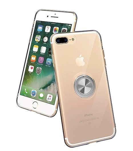 regard détaillé offres exclusives Design moderne SORAKA Coque Transparente pour iPhone 7 Plus iPhone 8 Plus,avec Support de  Bague rotative 360 Ajustement Mince Coque Transparente en TPU Compatible ...