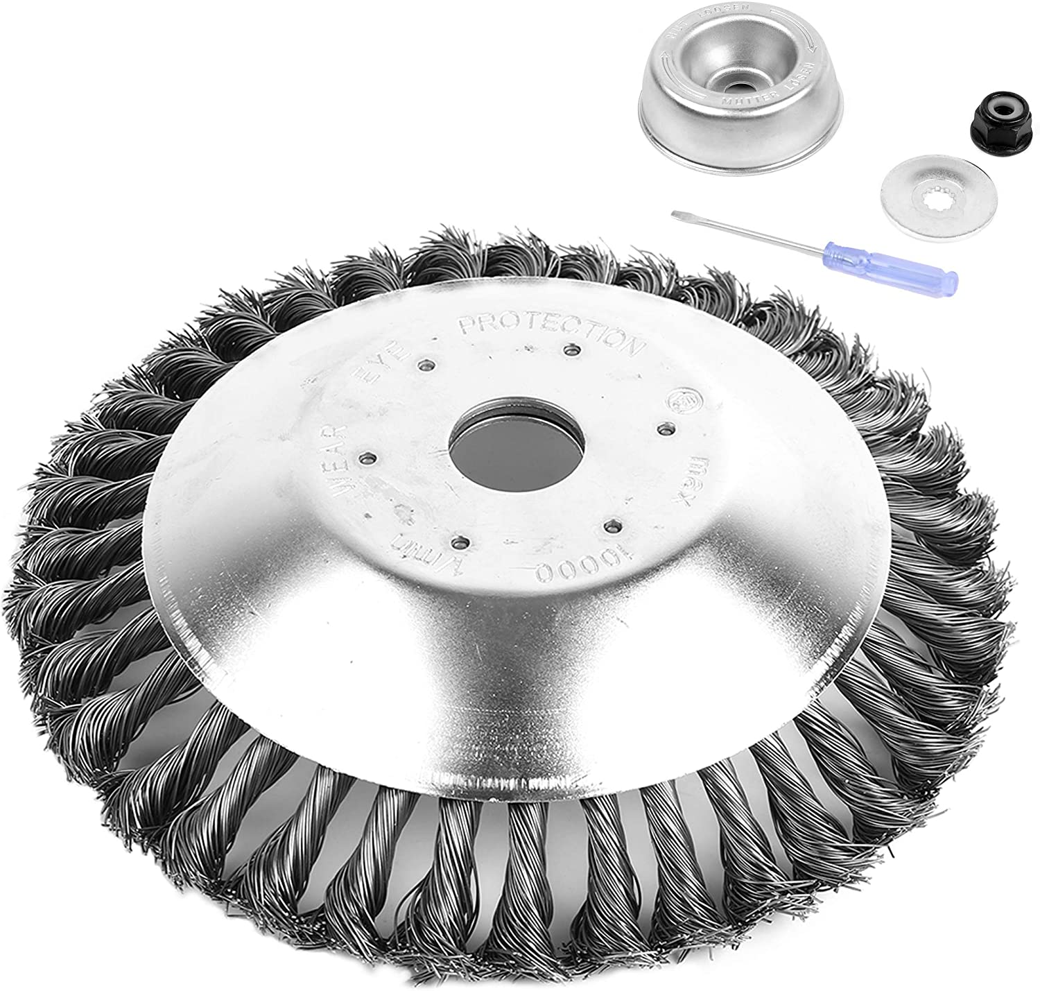 AR-PRO 8-inch Rotary Weed Brush Blades with Universal Adapter Kit Trimmer for Husqvarna/Stihl/Ego/Oregon/Hitachi/Honda and More – Cuts Like Butter: Garden & Outdoor