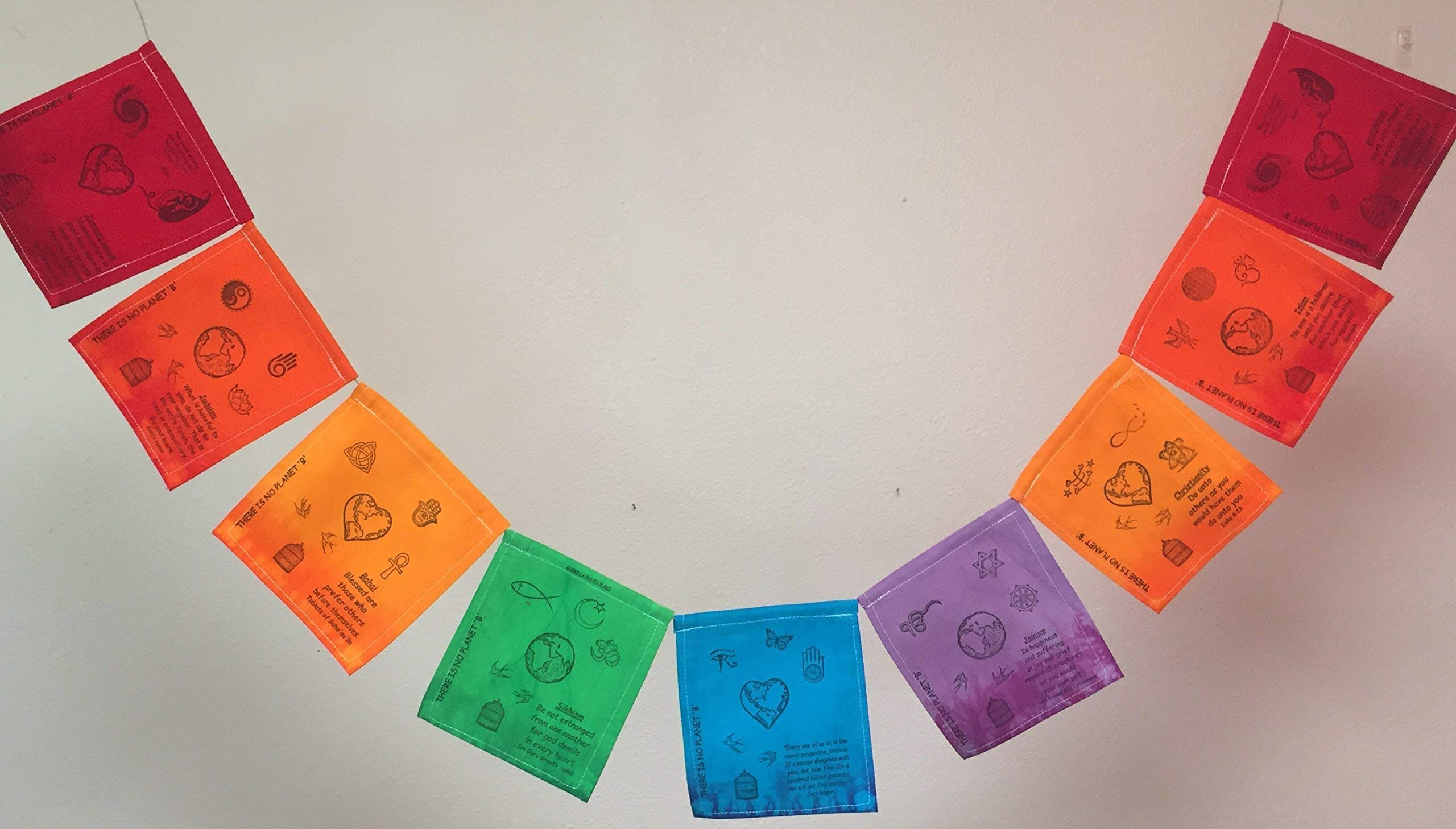 Coexistence Prayer Flag. All proceeds to families in Mexico.