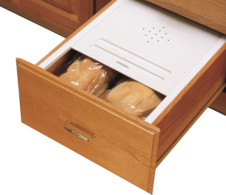 Rev-A-Shelf Small Bread Cover Kit Drawer Organizers White