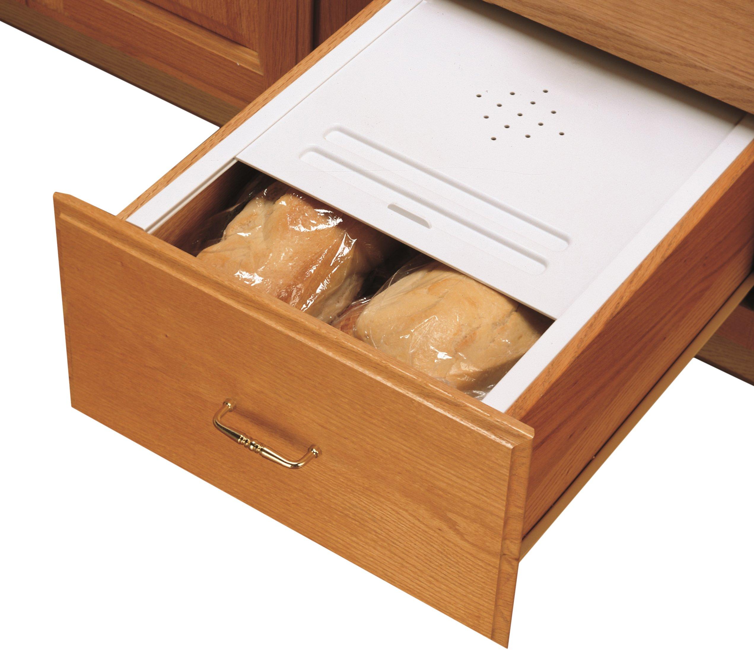 Rev-A-Shelf Small Bread Cover Kit Drawer Organizers, White