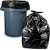 """Trash Bags 45 Gallon, (100 Count w/Ties) Large Black Garbage Bags, 40""""W x 46""""H"""