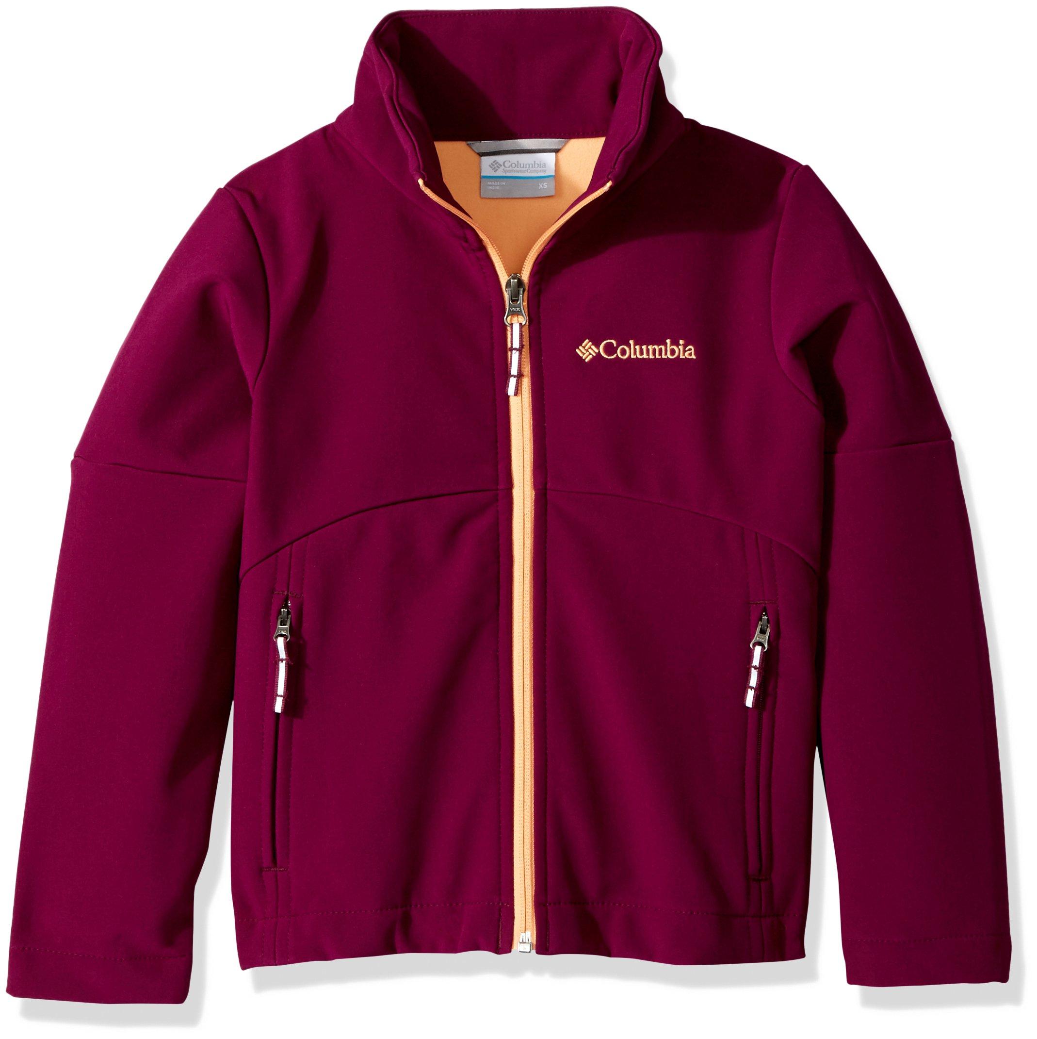 Columbia Little Girls' Brookview Softshell Jacket, Dark Raspberry, X-Small