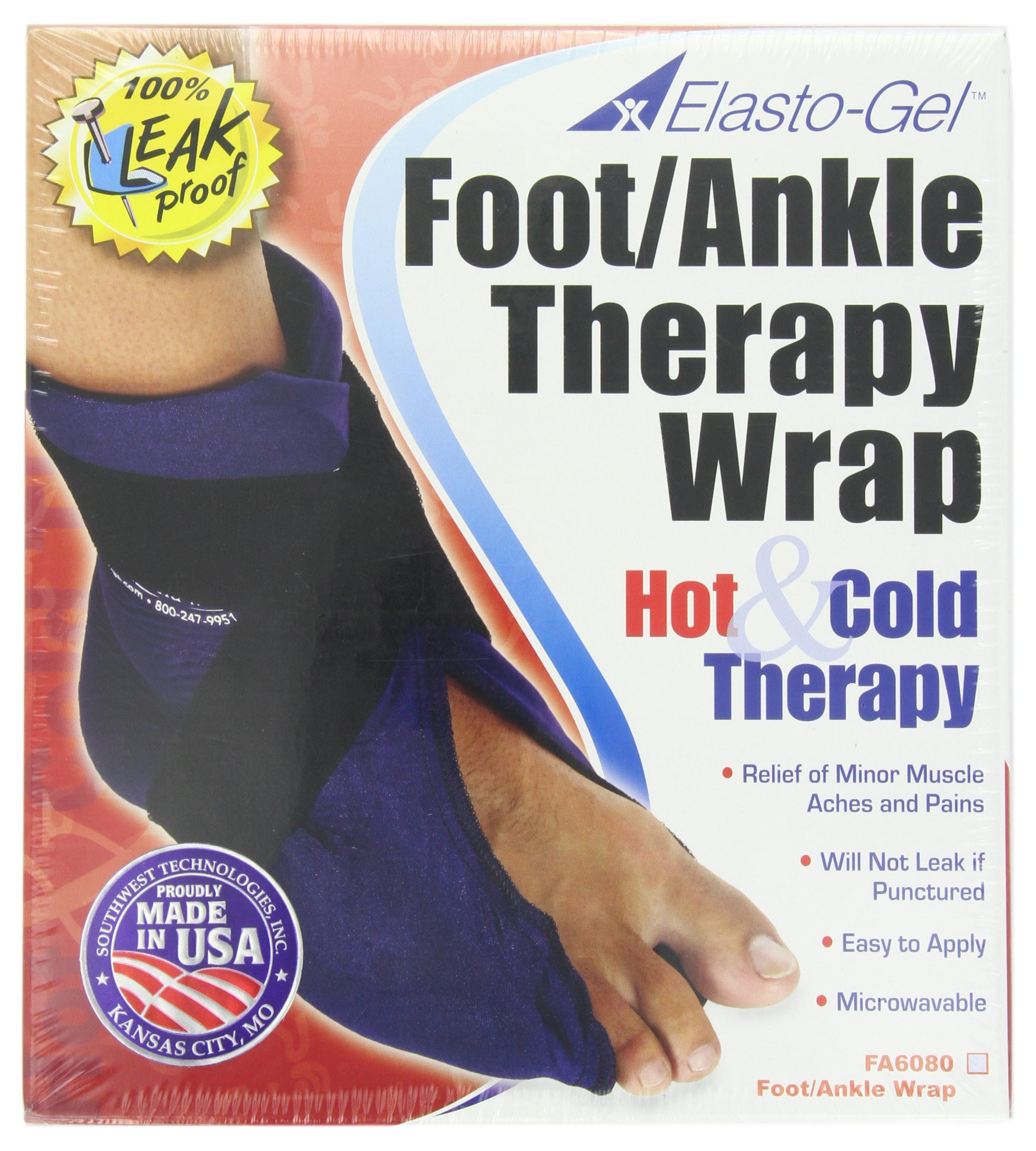 Elasto Gel Hot/Cold Wrap,foot and Ankle Wrap by Elasto-Gel