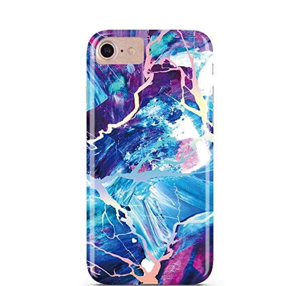 buy online 06de0 d1111 CASES A LA MODE Majestic Holo Rainbow Protective Marble CASE for iPhone  7/iPhone 8