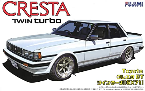 1/24 Scale Cresta GT Twin Turbo GX71 Construction Plastic Model Kit (japan import