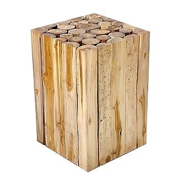 Brillibrum Design Beistelltisch Couchtisch Teakholz Teak Massiv Holz