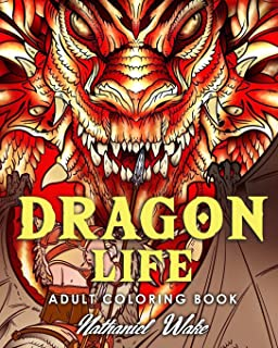 Amazon Com Dragon Coloring Book For Adults Dazzling Dragon Designs
