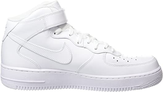 buy popular 7ada6 07b4c Women s Air Force 1 Mid  07 Leather White 366731-100. NIKE Women s Air  Force 1  07 Mid Hi-Top Trainers, (White