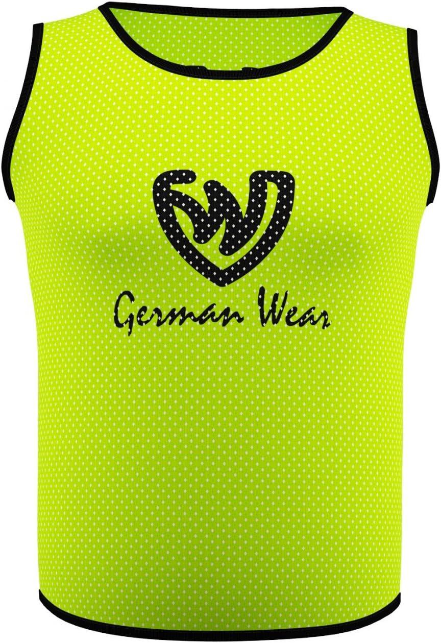 German Wear 10x Fu/ßball Leibchen Trainingsleibchen Markierungshemd Fu/ßballleibchen f/ür Kinder Jugend und Erwachsene