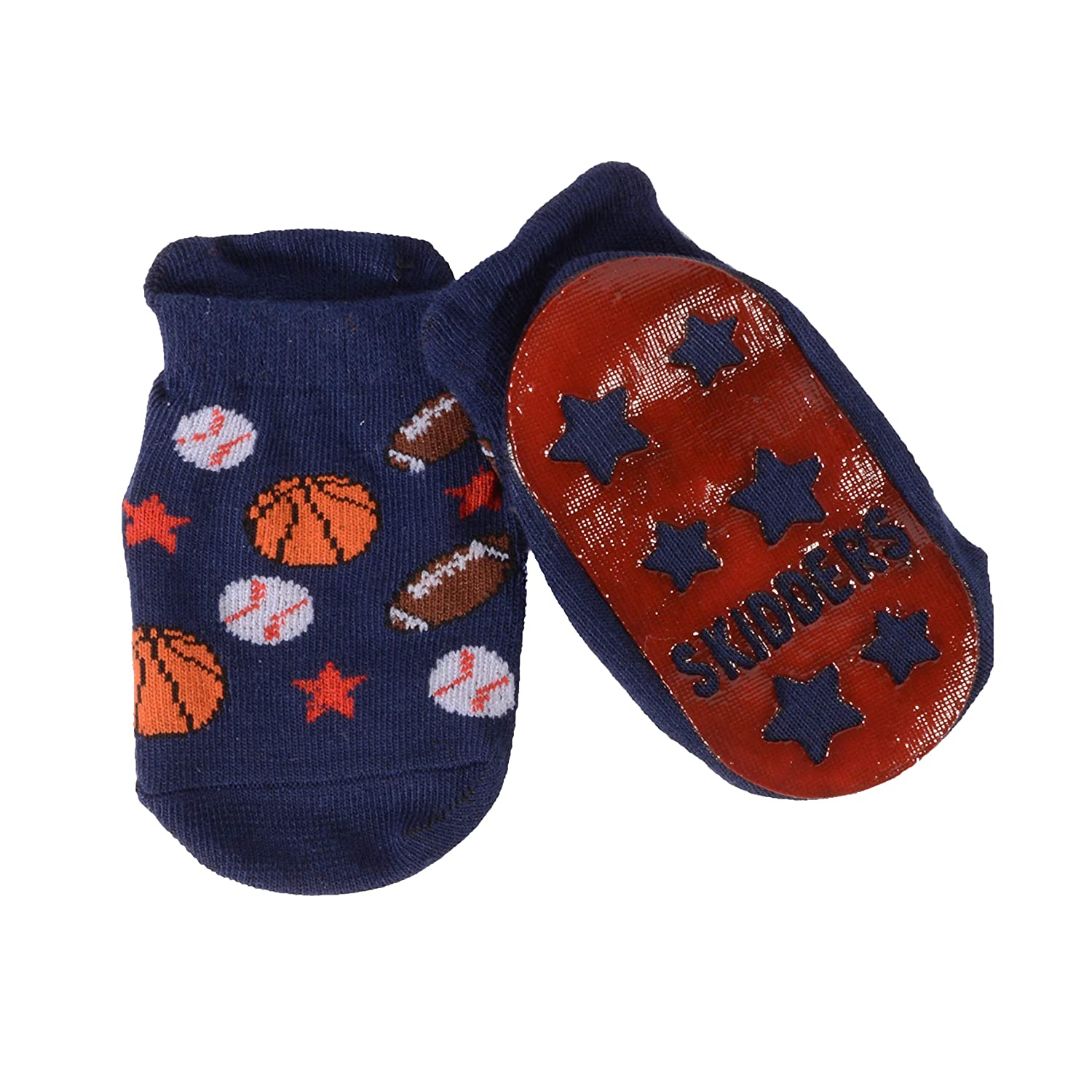 Firetruck 2 Pack Baseball SKIDDERS Baby Toddler Boy Grip Socks Bundle