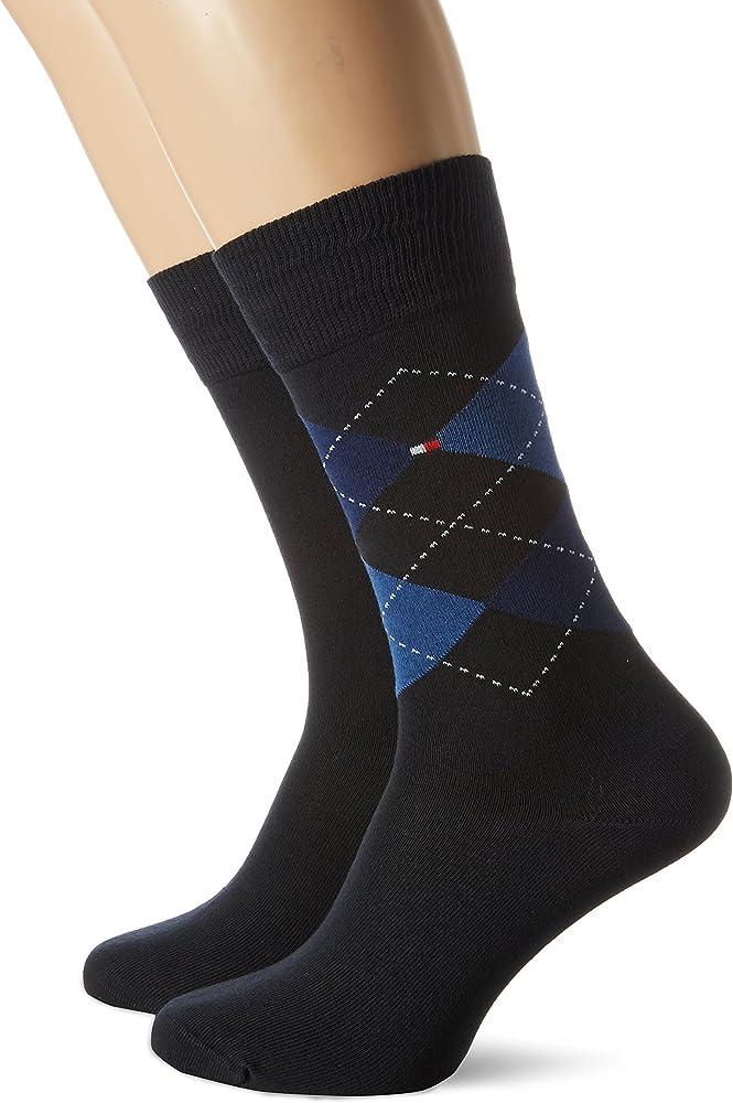 Tommy Hilfiger 391156, Calcetines para Hombre, Azul (Blue 054), 39/42 (Tamaño del Fabricante:039): Amazon.es: Ropa y accesorios