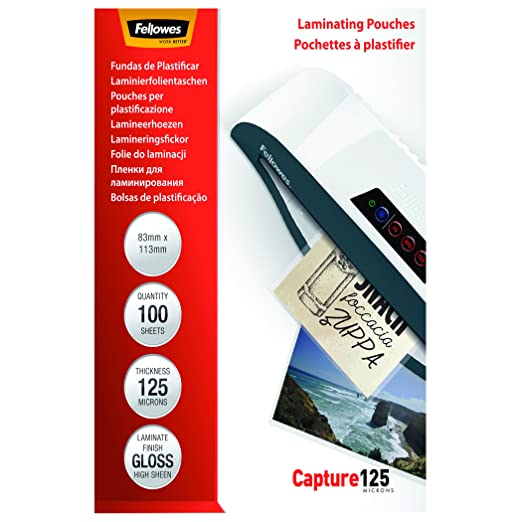 123 opinioni per Fellowes Pouches Lucide Capture125, 125 my, 83X113 mm, 100 Pezzi