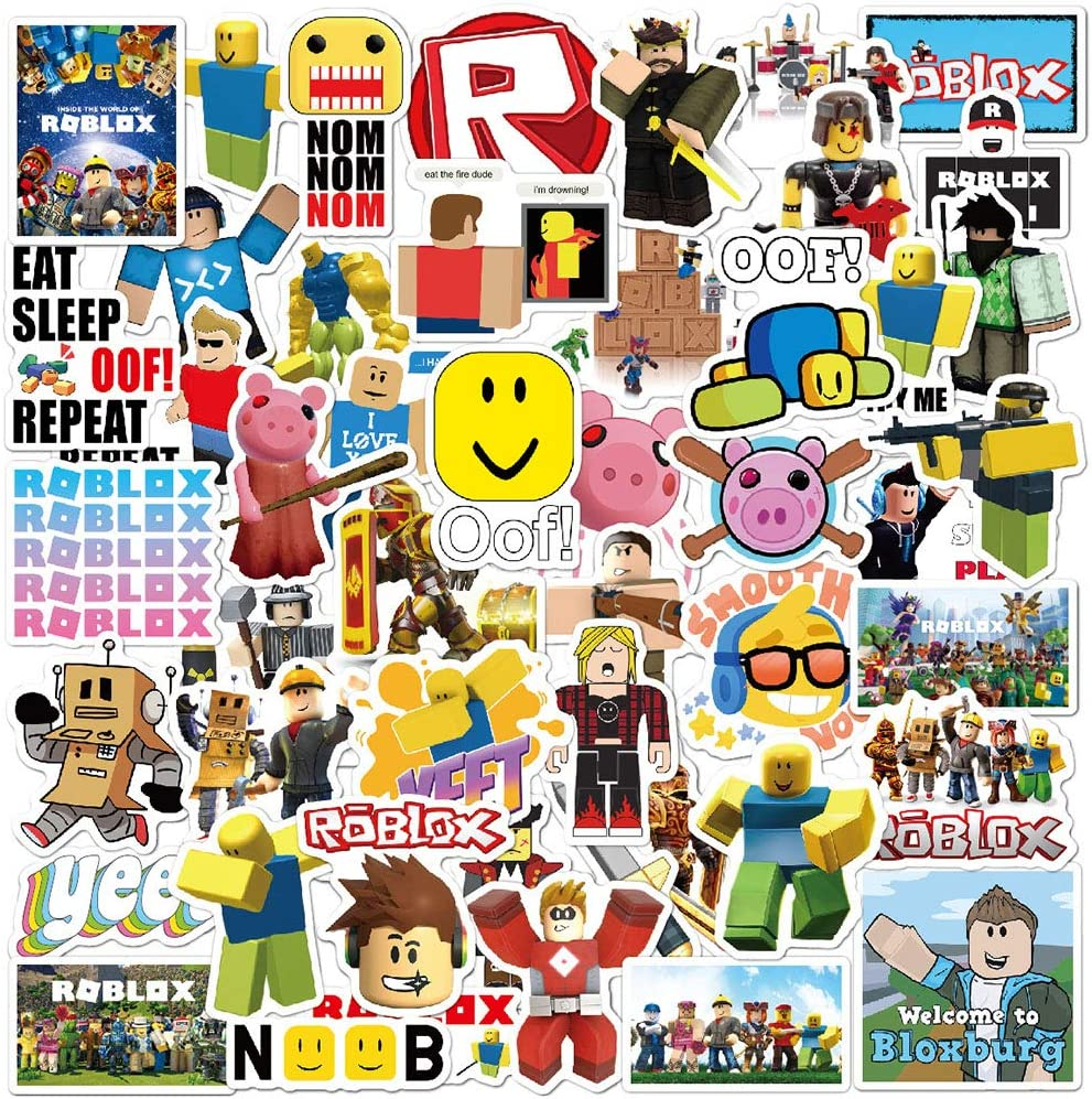 50 Pcs Funny Game Stickers for Roblex,Aesthetic Waterproof Vinyl Stickers Pack for Laptop Computer Flasks Water Bottles Ps4 Xbox Bike Car MacBook, Ideal Stickers Decals for Kids Teens Boys Girls。