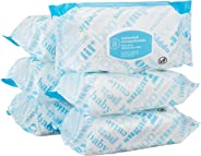 Amazon Elements Baby Wipes, Unscented, 480 Count, Flip-Top Packs