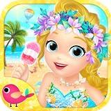 Día perfecto de playa para la princesa Libby