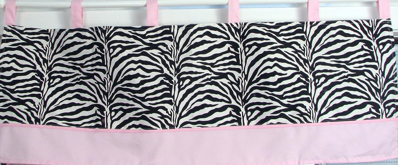 SoHo Pink with Black /& White Zebra Chenille Crib Nursery Bedding 10 pcs Set