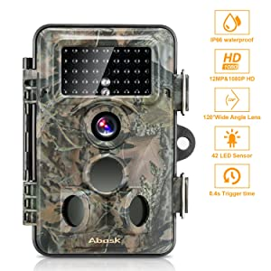 Wildlife Camera, Abask Trail Surveillance Waterproof