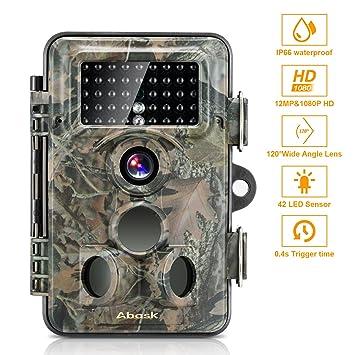 Wildlife Camera, ABASK Trail Surveillance Waterproof Digital ...