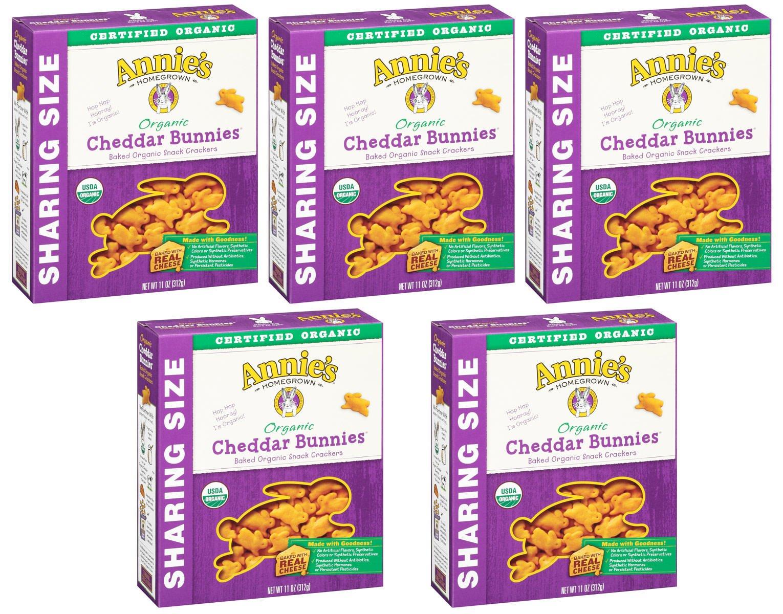Annie's Homegrown Organic Cheddar Crackers, Bunnies, 11 Ounce