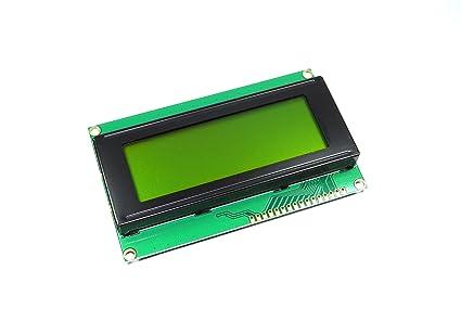 Blau I2C-Schnittstellenmodul HD44780-Chipsatz 2004A LCD-Display inkl 20 Zeichen x 4 Zeilen