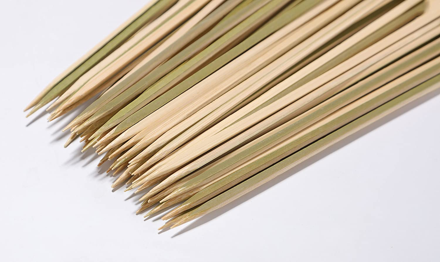 Yiapinn 21cm Natural Bamboo Skewers 100 Pcs BBQ Skewers for Grill Party Sandwich Cocktail Paddle Sticks