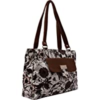 Karigaari Stylish Classic Gorgeous PU Synthetic Leather Butterfly and Flower Pint Shoulder Handbag for Women and Girls