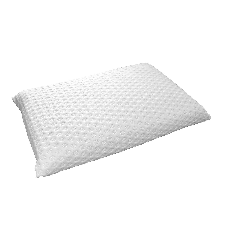 Garnissage Bloc de Mousse Visco/élastique Polyur/éthane /à M/émoire de Forme Blanc 60 x 40 cm Dodo 8221640 Thermogel Oreiller Uni Taie Polyester//Modal Sous-Taie Polyester Jersey