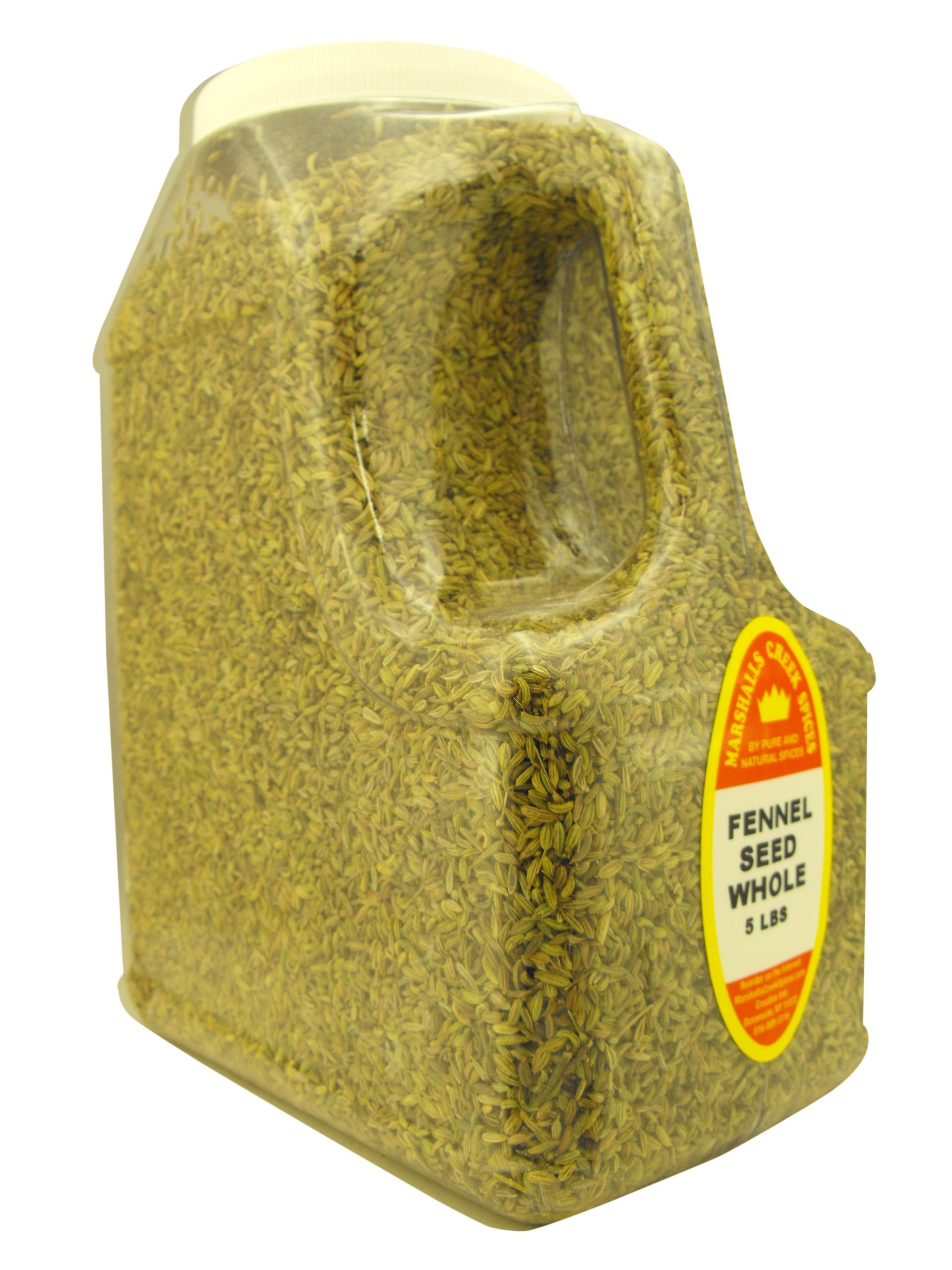 FENNEL SEED WHOLE 5 LB. RESTAURANT SIZE JUG