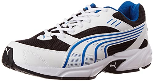 2c9031eea5388f Image Unavailable. Image not available for. Colour  Men s Pluto DP White- Black-Princess Blue Running Shoes - 8 UK India