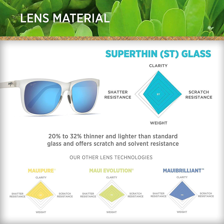 e884a6d3da72 Amazon.com: Maui Jim Tail Slide B740-05CM   Sunglasses, Forsted Crystal,  with Patented PolarizedPlus2 Lens Technology: Maui Jim: Shoes