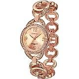 Time100 Montre mode simple avec diamants étincelants à quartz pour femme et fille #W50377L.03A