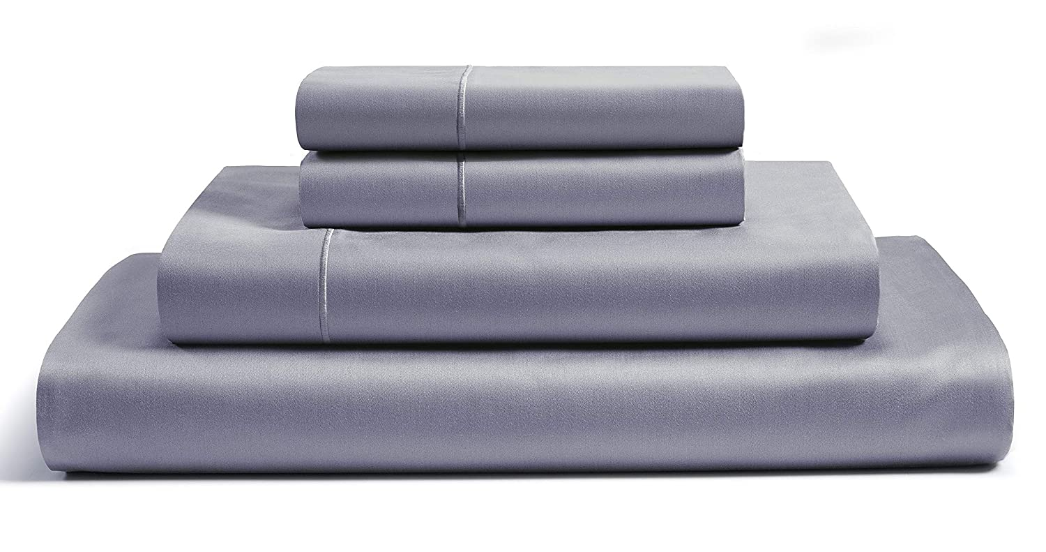 CHATEAU HOME COLLECTION 800 Thread Count 100% Egyptian Cotton Sheets Set - Deep Pocket 100% Cotton Sheets & Pillowcases Set Best Bed Sheets Soft Sateen Weave Combed Cotton King Sheet Set, Charcoal