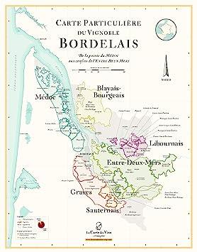 Carte Des Vins Bordeaux.Carte Des Vins De Bordeaux 70 X 100 Cm Amazon Fr Cuisine