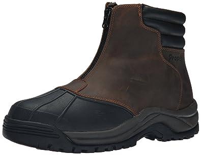 Propet Men's Blizzard Mid Zip Boots, Brown/Black, ...