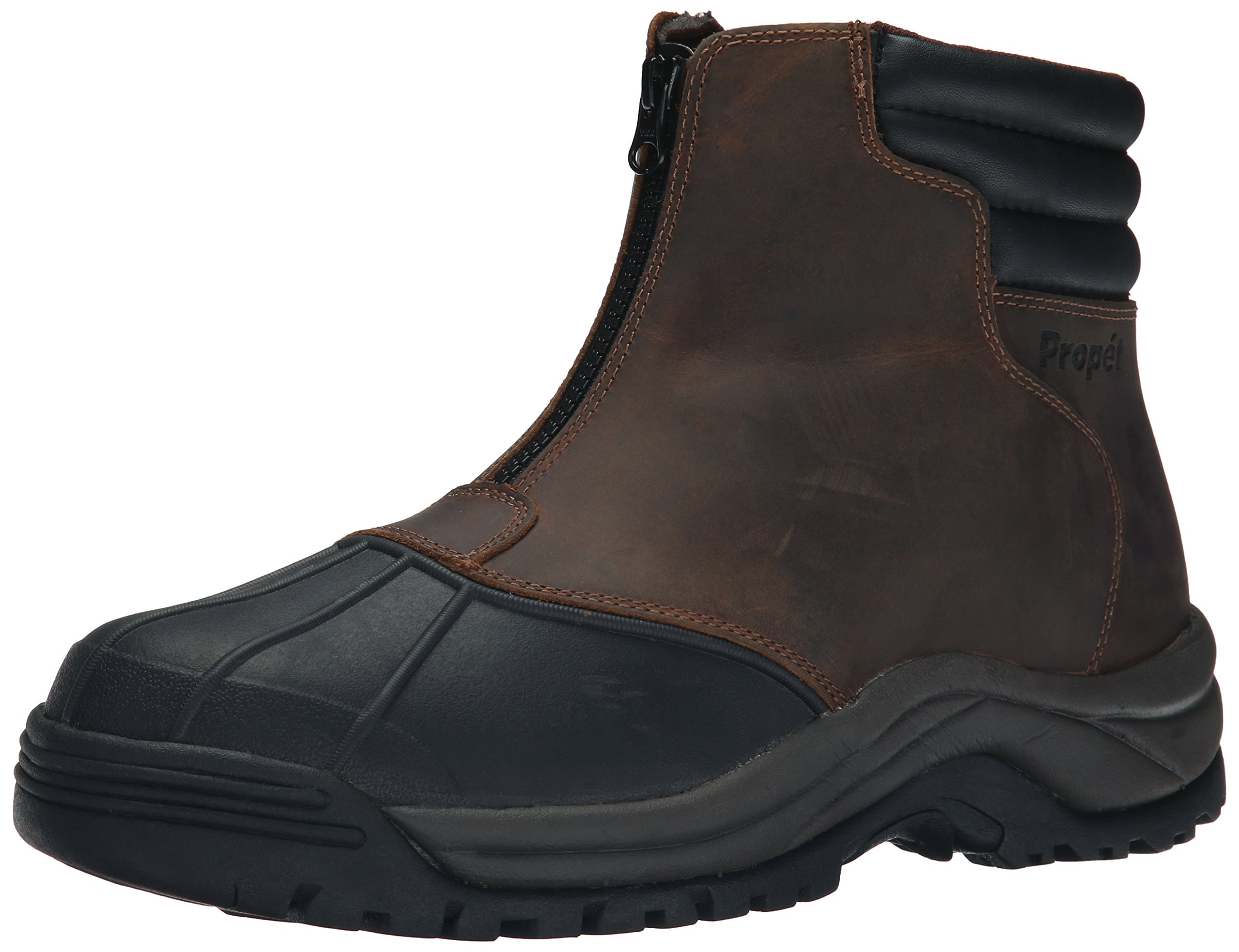 Propet Men's Blizzard Mid Zip Boots, Brown/Black, 11 5E US