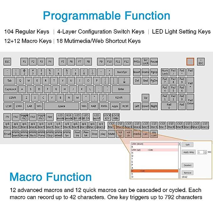 Amazon in: Buy Koolertron One Handed Macro Mechanical Keyboard