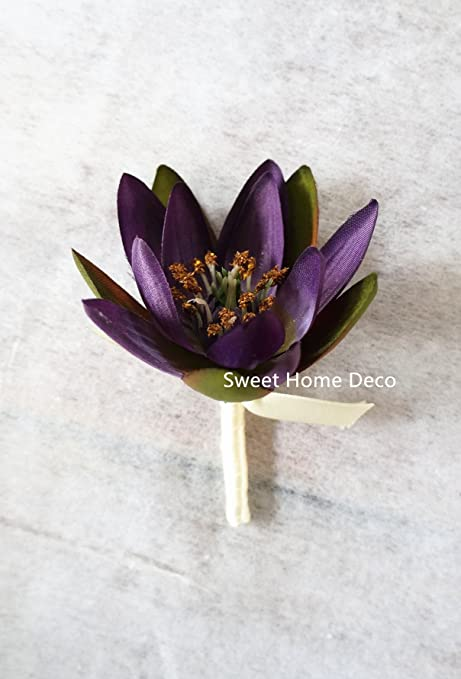 Sweet Home Deco 9\'\' Silk Lotus Flower Bouquet (6 Stems/6 Flower ...