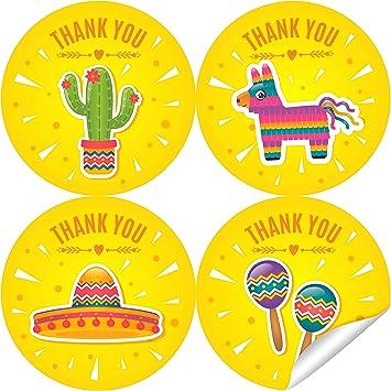 Amazon.com: Pegatinas de agradecimiento de fiesta de 2.0 in ...