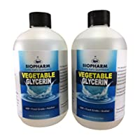 Vegetable Glycerin USP, Food Grade, Kosher 2-Pack 500 mL Each