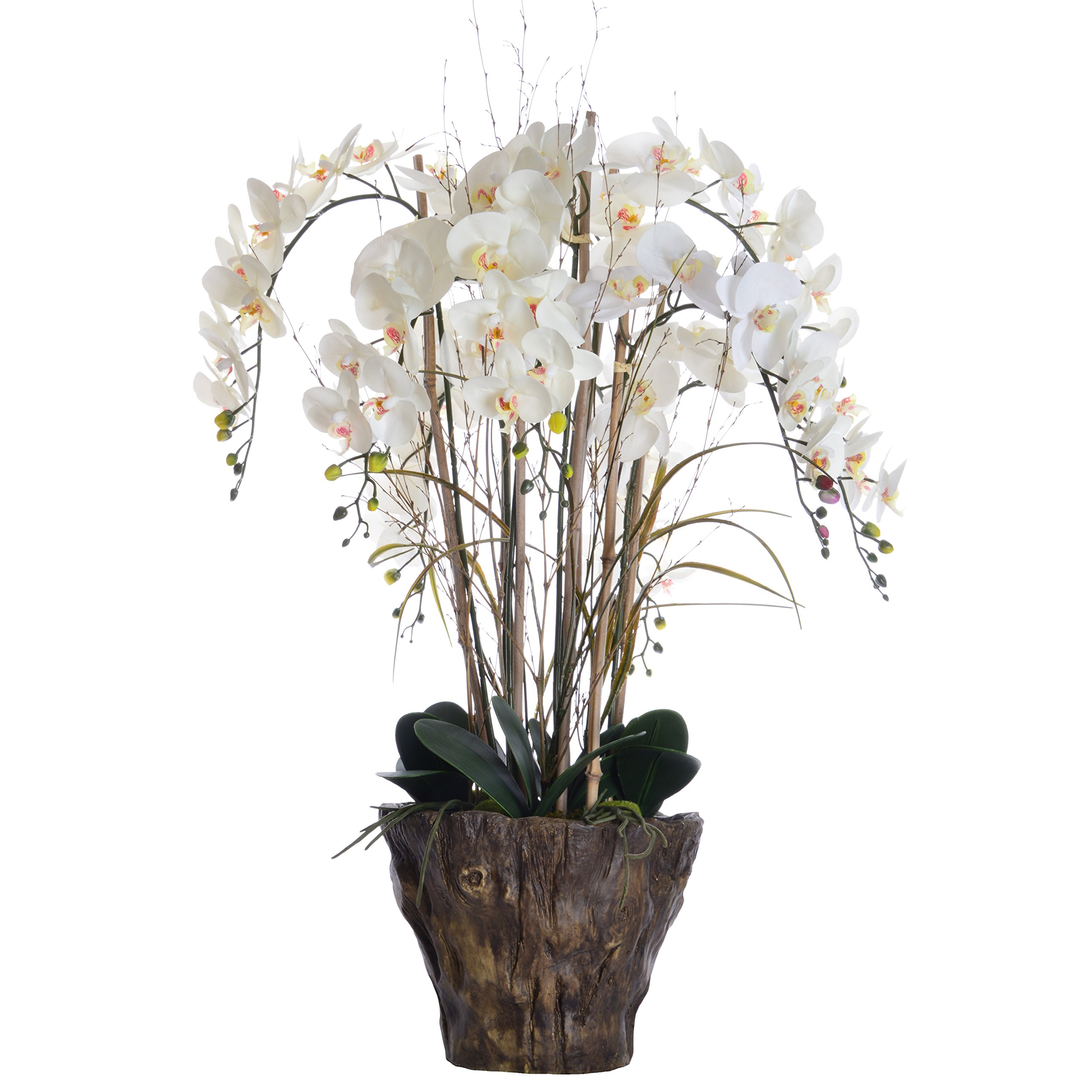 Laura Ashley VHA102446 Orchid Arrangement Fiberstone Pot, 27 by 27 by 38''