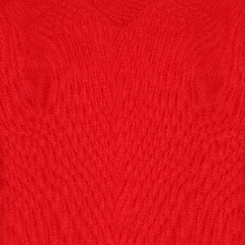 Kids Boys Girls Unisex School Uniform V Neck Jumper Sweatshirt Plain Pull Over
