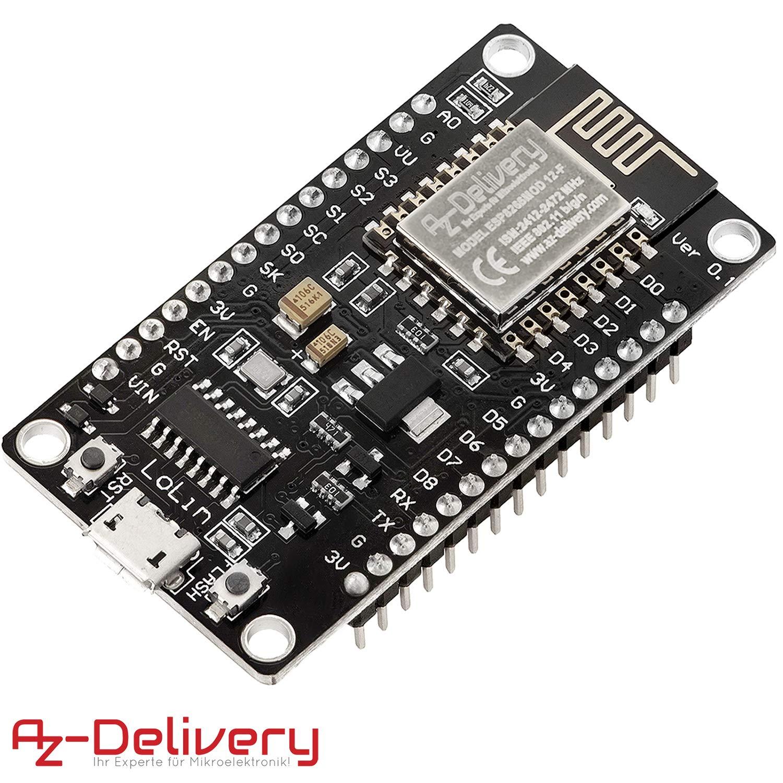 AZDelivery NodeMCU esp8266 esp-12e WIFI Lolin Modulo V3 development board con CH340 per Arduino con eBook