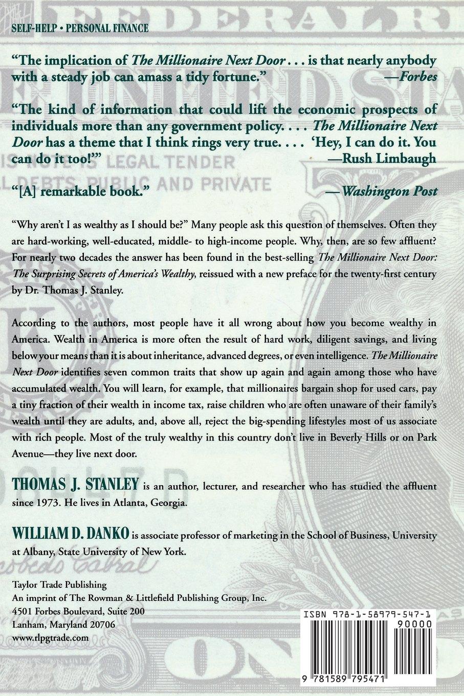The Millionaire Next Door: The Surprising Secrets Of Americau0027s Wealthy:  Thomas J. Stanley, William D. Danko: 8601419940790: Amazon.com: Books
