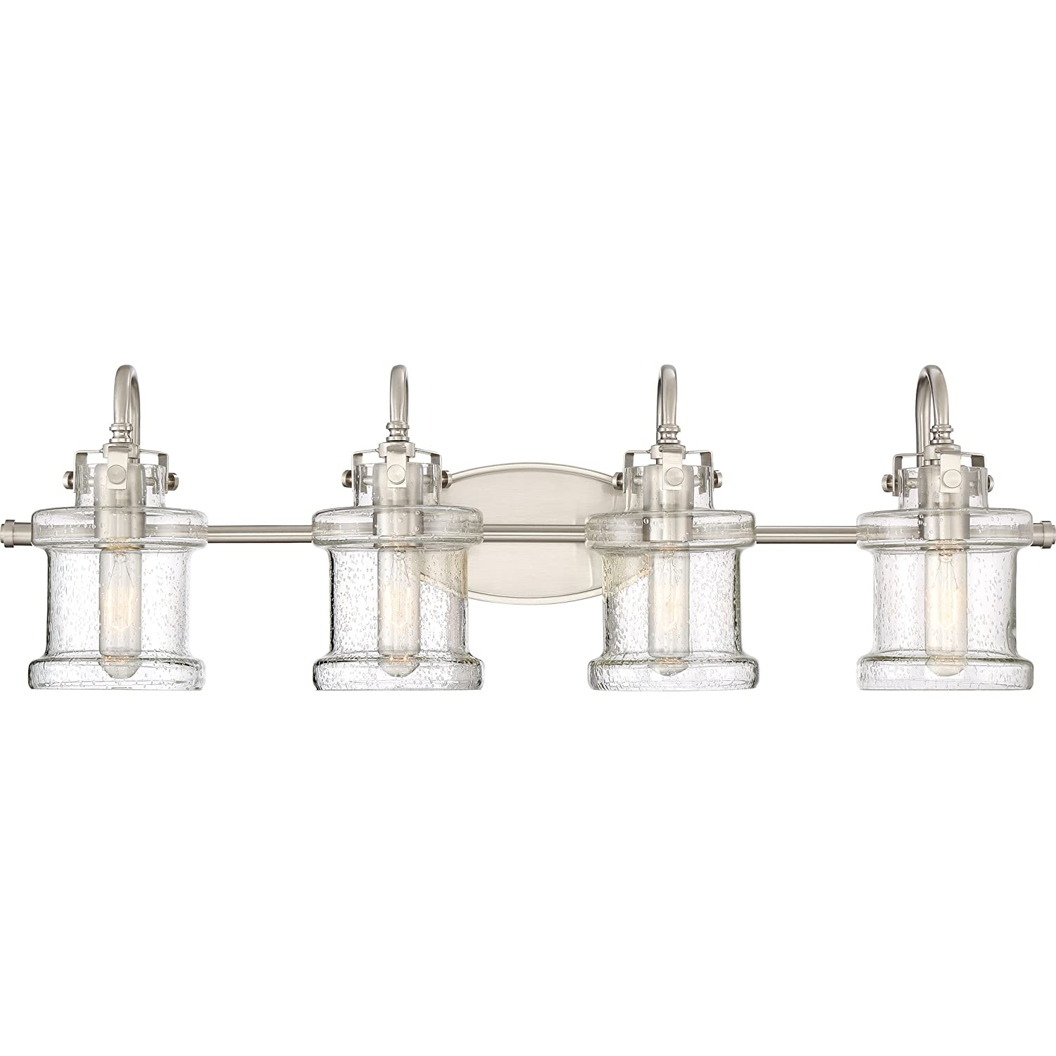 Quoizel DNY8604BN Danbury Vanity Bath Lighting, 4-Light, 400 Watts, Brushed Nickel 10 H x 32 W