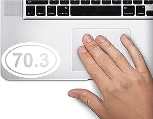 70.3 Half Ironman Marathon Oval Symbol Decal Funny Laptop Skin Macbook Trackpad Keypad Sticker Window