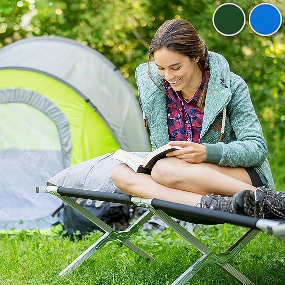 2X Azul | No. 402002 Bolsa para Transporte Varias cantidades TecTake Cama de Camping XL Plegable Capacidad de 150 kg