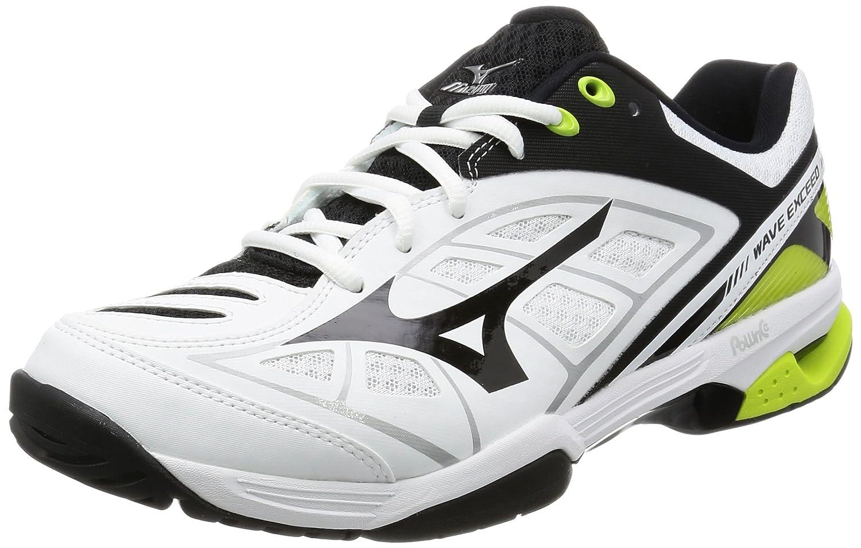 [ミズノ] テニスシューズ ウェーブエクシード OC 61GB1713 B01N0AU2RH 23.5 cm ホワイト/ブラック/ライトグリーン